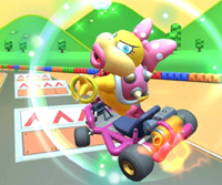 The Dry Bowser Cup Challenge from the Mario Bros. Tour of Mario Kart Tour