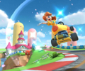 The icon of the Baby Daisy Cup challenge from the Sunset Tour in Mario Kart Tour