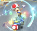 The icon of the Waluigi Cup Challenge from the Holiday Tour and the Diddy Kong Cup Challenge from the Exploration Tour in Mario Kart Tour