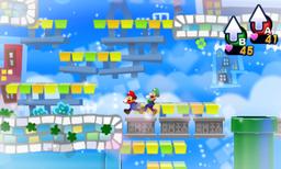Screenshot of a dream in Wakeport, from Mario & Luigi: Dream Team