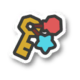 The Blissful Beach Key icon from Paper Mario: Color Splash