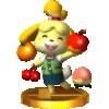 Isabelle trophy from Super Smash Bros. for Nintendo 3DS
