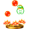 Lakitu & Spinies's trophy render from Super Smash Bros. for Wii U