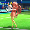 Pink Gold Peach's taunt from Mario Sports Superstars