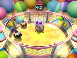 Wario in Hop or Pop from Mario Party 4
