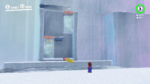 The bonus area with moving bodies of freezing water in Super Mario Odyssey