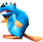 A Gnawty from Donkey Kong 64.