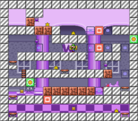 Level 10-1 map in the game Mario & Wario.