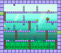 Level 6-2 map in the game Mario & Wario.