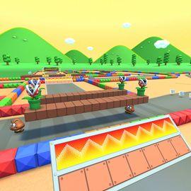 View of RMX Mario Circuit 1 in Mario Kart Tour