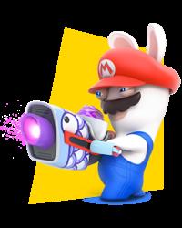 Artwork of Rabbid Mario in Mario + Rabbids Kingdom Battle.