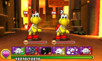 Screenshot of World 2-6, from Puzzle & Dragons: Super Mario Bros. Edition.