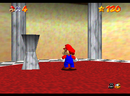 Mario entering the wall of Snowman's Land