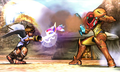 SSB4 3DS- Pit and Samus Fighting.png