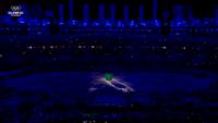 A warp pipe in Maracanã Stadium during the Rio 2016 closing ceremony.