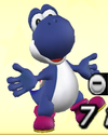 Blue Yoshi from Mario Super Sluggers