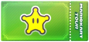 A Star ticket from Mario Kart Tour