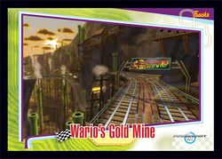 The Wario's Gold Mine card from the Mario Kart Wii trading cards