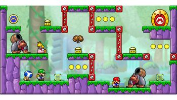 Miiverse screenshot of the 25th official level in the online community of Mario vs. Donkey Kong: Tipping Stars
