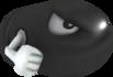 Rendered model of a Bullet Bill enemy in Super Mario Galaxy.