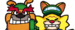 Dribble and Spitz character selection grid icon from WarioWare: Get It Together!