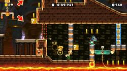 Official Mario Maker 2 course Bowser's Castle: The Last Dash, the final level of Ninji Speedruns in Super Mario Maker 2.