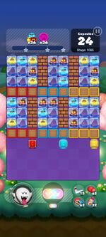 Stage 1065 from Dr. Mario World