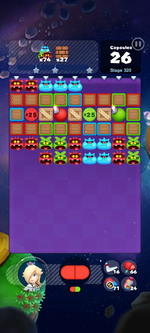 Stage 320 from Dr. Mario World