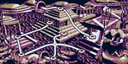 A map of Kremlantis in Donkey Kong Land.