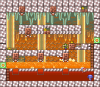 Level 5-1 map in the game Mario & Wario.