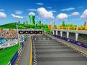 Screenshot of Figure-8 Circuit from Mario Kart DS