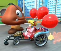 The Peach Cup Challenge from the New Year's Tour of Mario Kart Tour