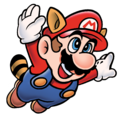 Raccoon Mario Artwork - Super Mario Bros. 3.png