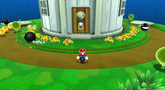 Mario in the Sky Station Galaxy.