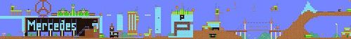 Layout of Mercedes-Benz Jump'n'Drive in Super Mario Maker.