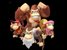 Donkey Kong, Diddy Kong, Dixie Kong and Cranky Kong
