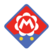 Baby Mario's emblem from baseball from Mario Sports Superstars