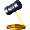 Hammer trophy from Super Smash Bros. for Wii U