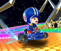 The icon of the Ice Mario Cup challenge from the 2021 Trick Tour in Mario Kart Tour