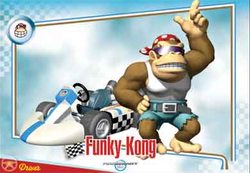 Mario Kart Wii trading card for Funky Kong.