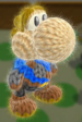Mii Swordfighter amiibo Yoshi from Yoshi's Woolly World