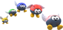 Artwork of Para-Biddybuds, from Super Mario 3D World.