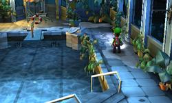 The Rooftop Pool segment from Luigi's Mansion: Dark Moon.
