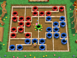 Toadette about to win in Warp Pipe Dreams