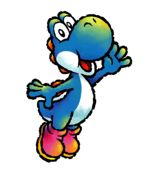 Artwork of Blue Yoshi from Yoshi Touch & Go