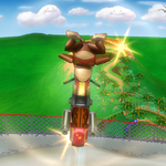 Diddy Kong's up bike trick