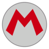 Mario emblem from Mario Kart 8