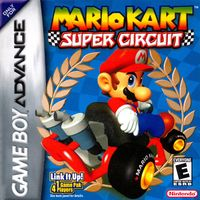 North American game cover art of Mario Kart: Super Circuit.