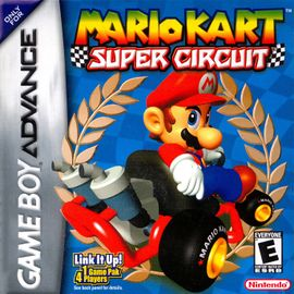 North American game cover art of Mario Kart: Super Circuit.