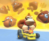 The icon of the Peach Cup challenge from the London Tour and the Kamek Cup challenge from the Kamek Tour in Mario Kart Tour